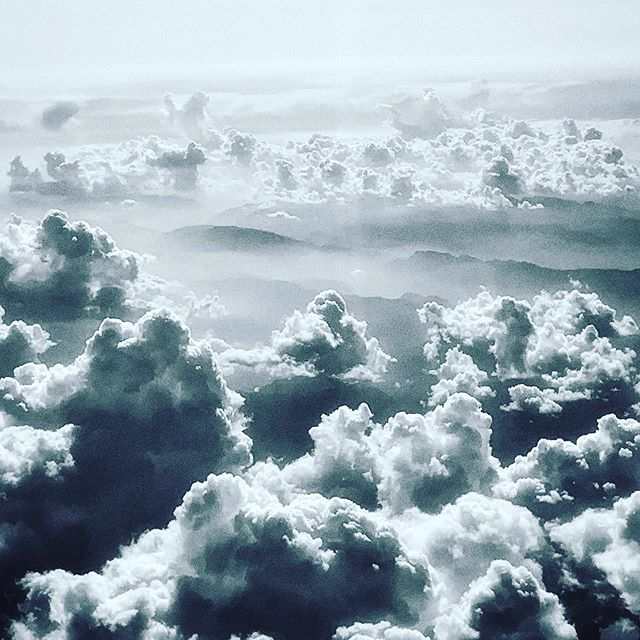 Nice group of clouds shot while flying over the Dolomites on our to Apulia. Would love to explore there some day.  #cloudy #landscapephotography #bwphoto #bothsidesnow