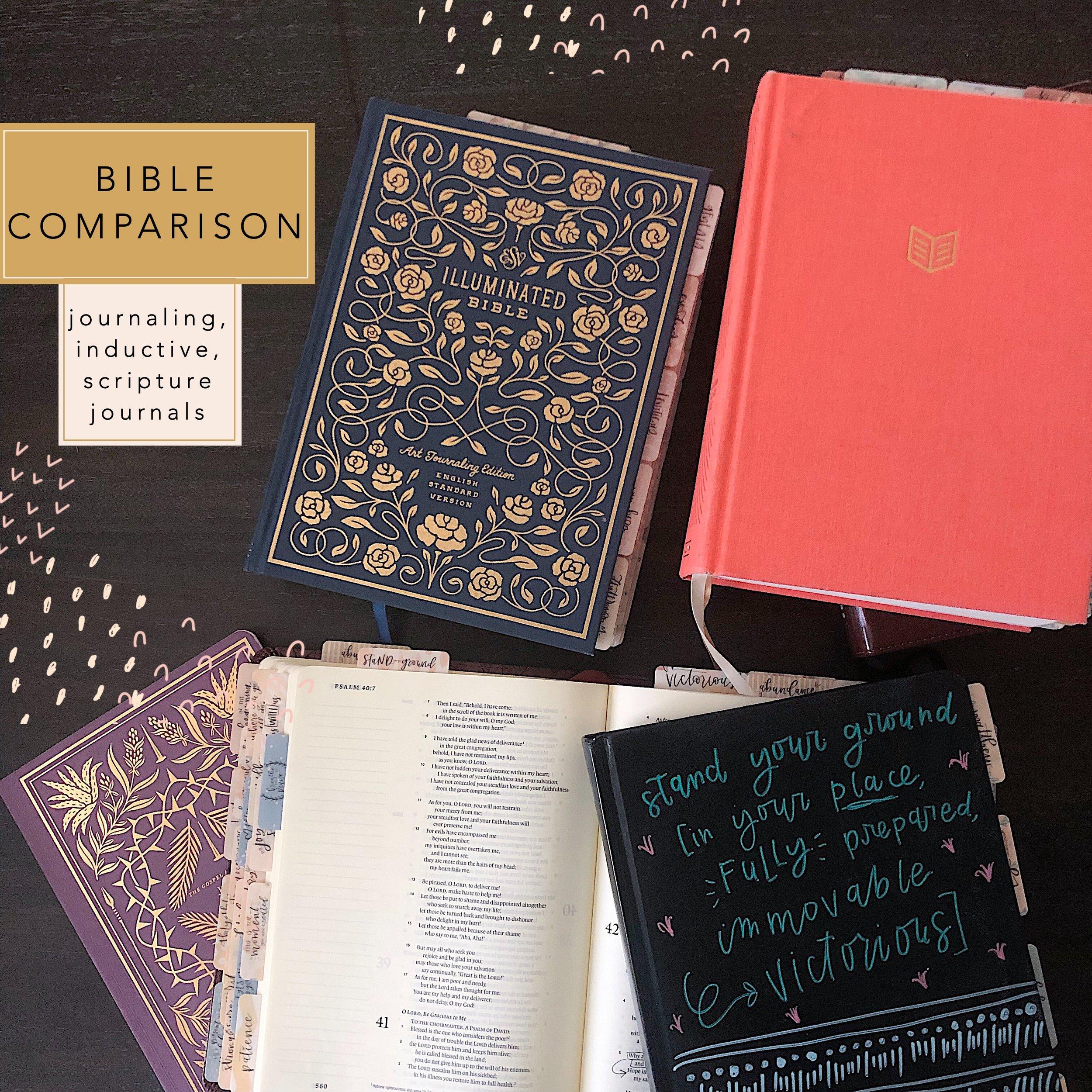 bible comparison blog post