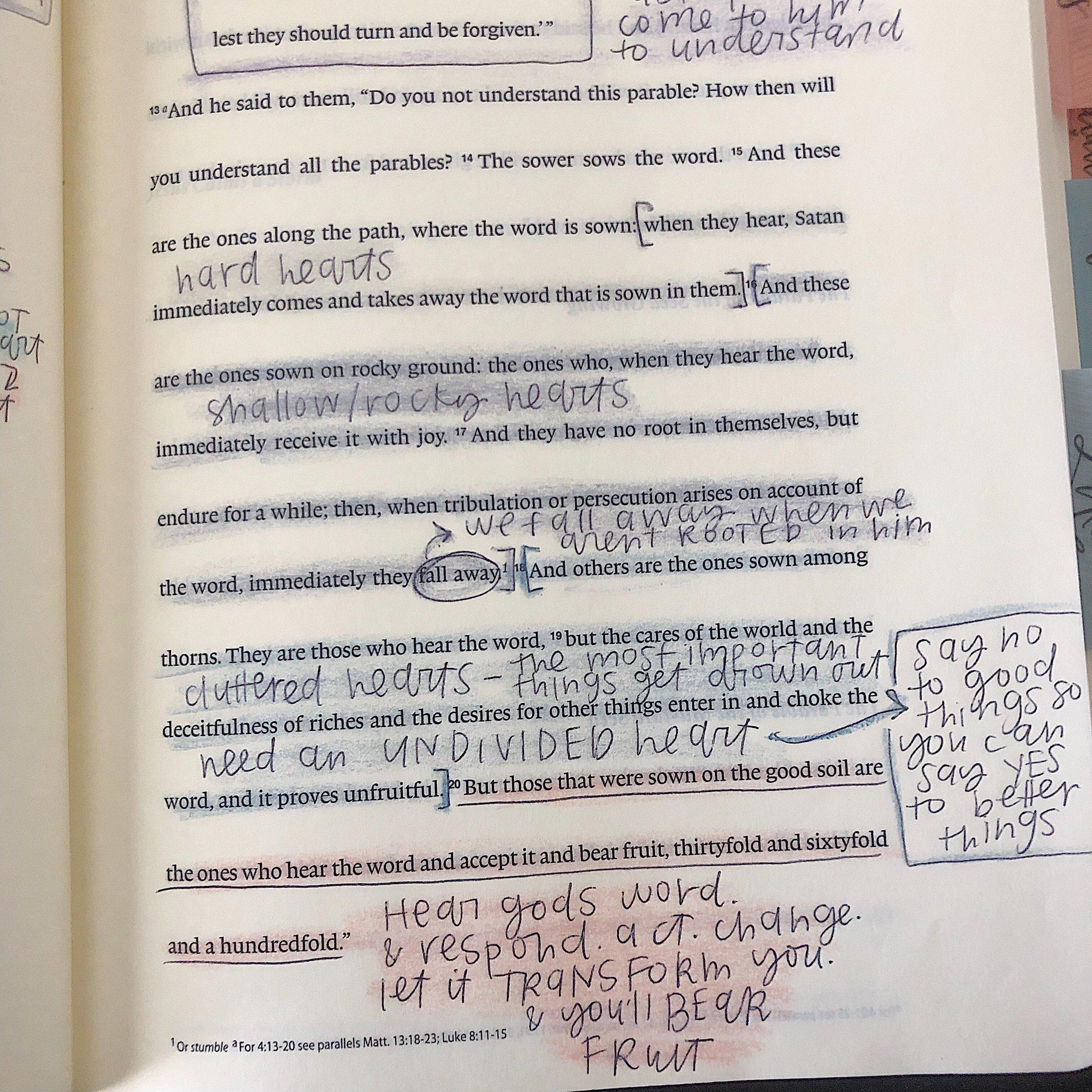 bible comparison: inductive journaling bible