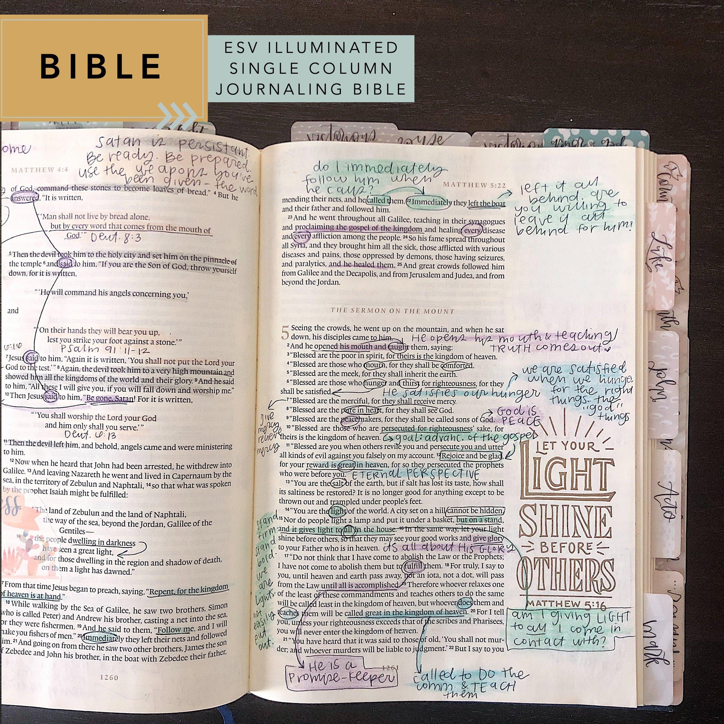 bible comparison: ESV Illuminated Bible