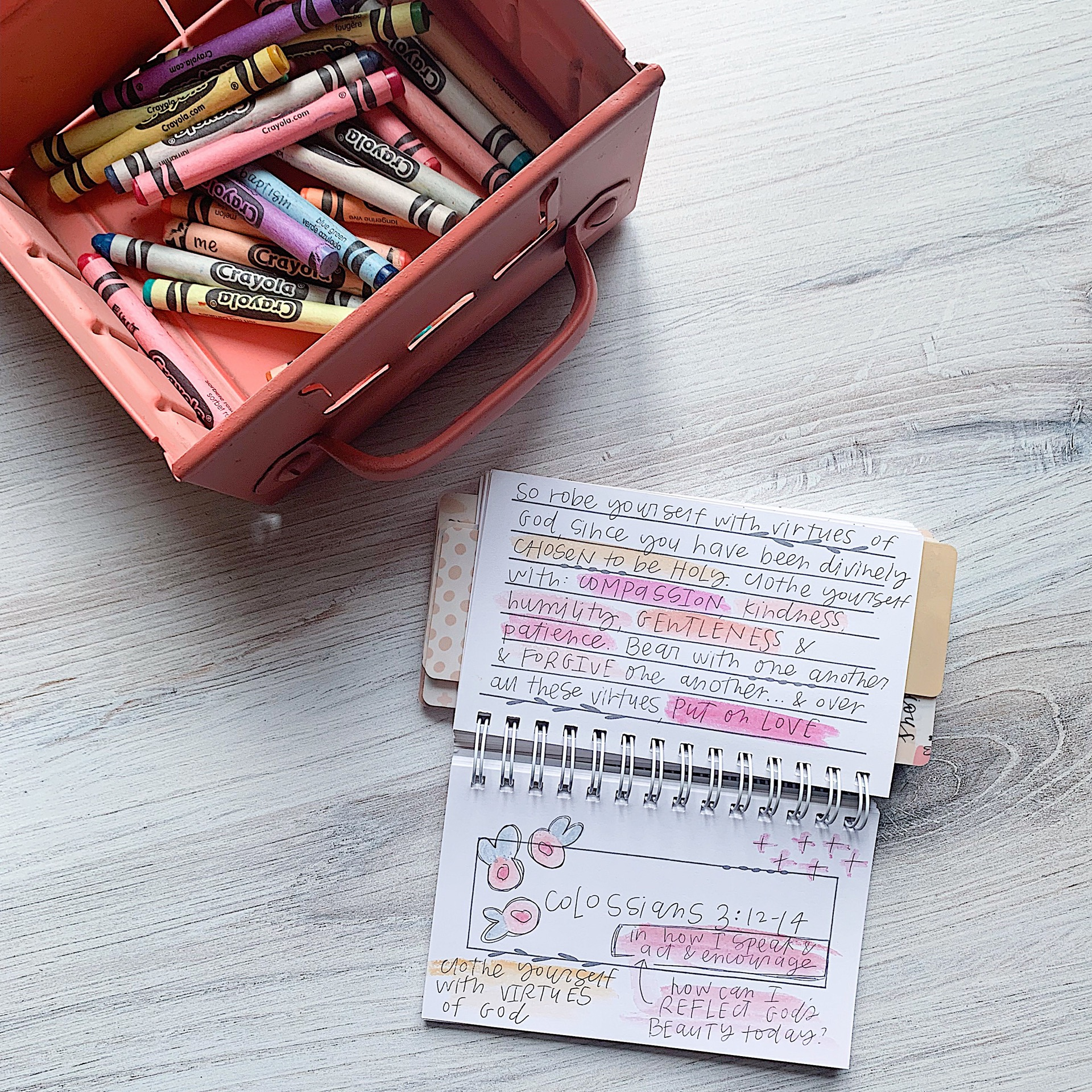 MEMORY JOURNAL - This is my favorite way to memorize scripture. I write the verse, then also prayers or reminders to help me remember. It's small enough to throw in my purse or take on a walk!