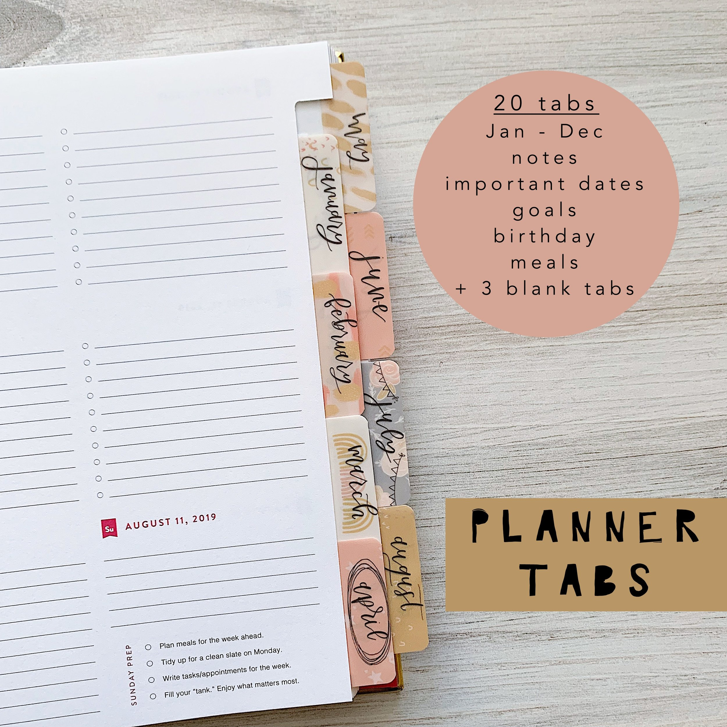planner tabs