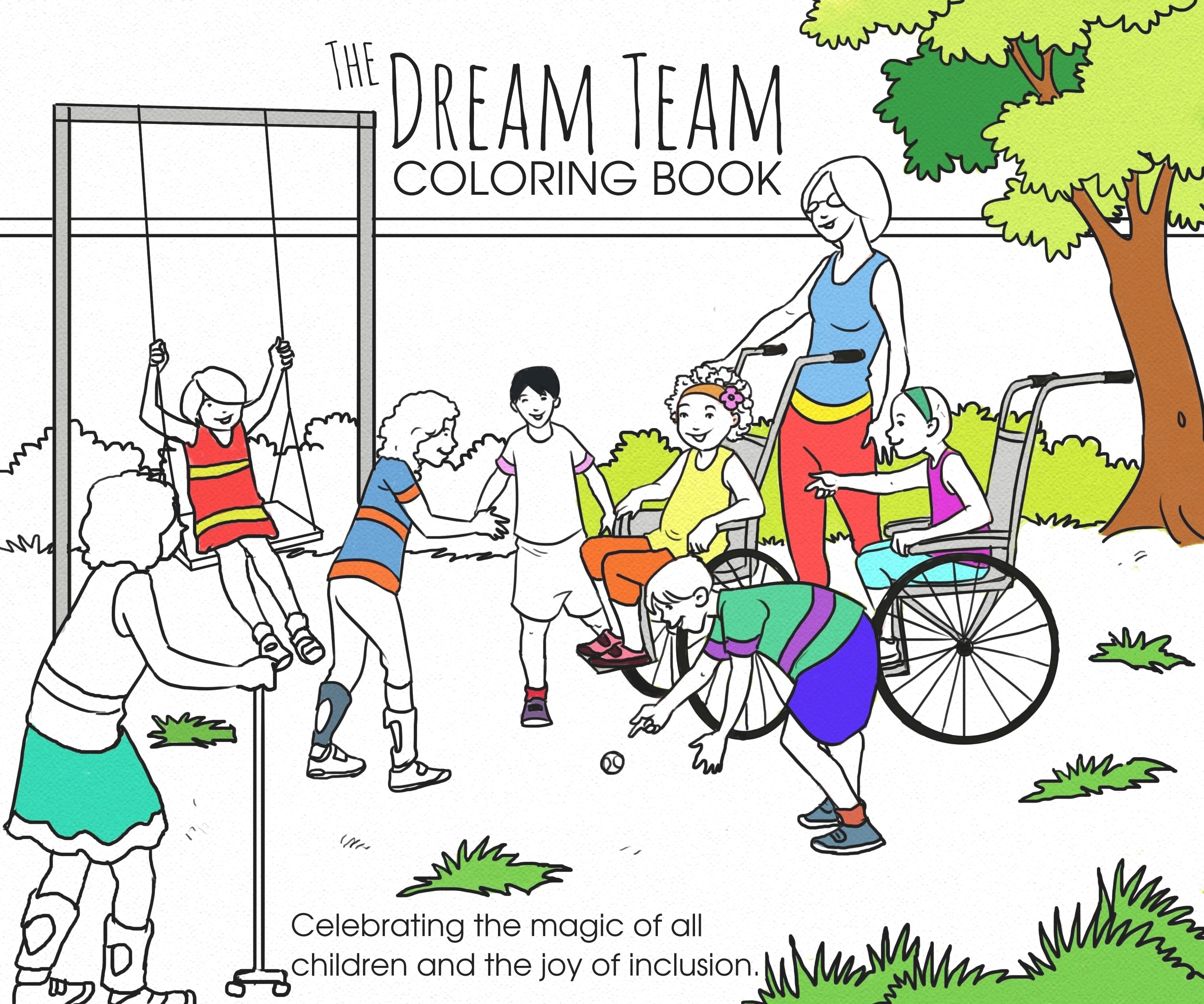 Dream Team Inclusive Coloring Book Mary Susan Mcconnell