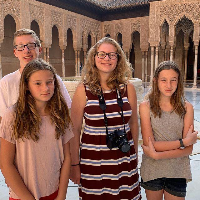 Wonderful morning soaking in the magnificent Alhambra! #alhambra #grenada #udlcsabbath #pkonsabbatical #laconvivencia