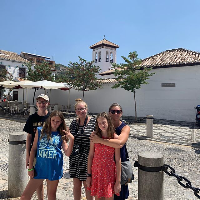 This morning we explored the Albaicin, the historic Muslim quarter of Grenada, where we are staying. We visited the first mosque to be built in Grenada in 600 years, in 2003. And we dove into the Arab markets as we walked down the hill. #grenada #albaicin #pkonsabbatical #udlcsabbath #laconvivencia