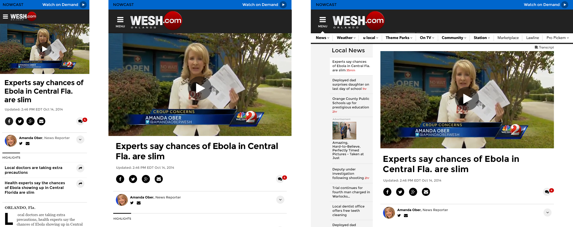 Responsive View of a Lede Story