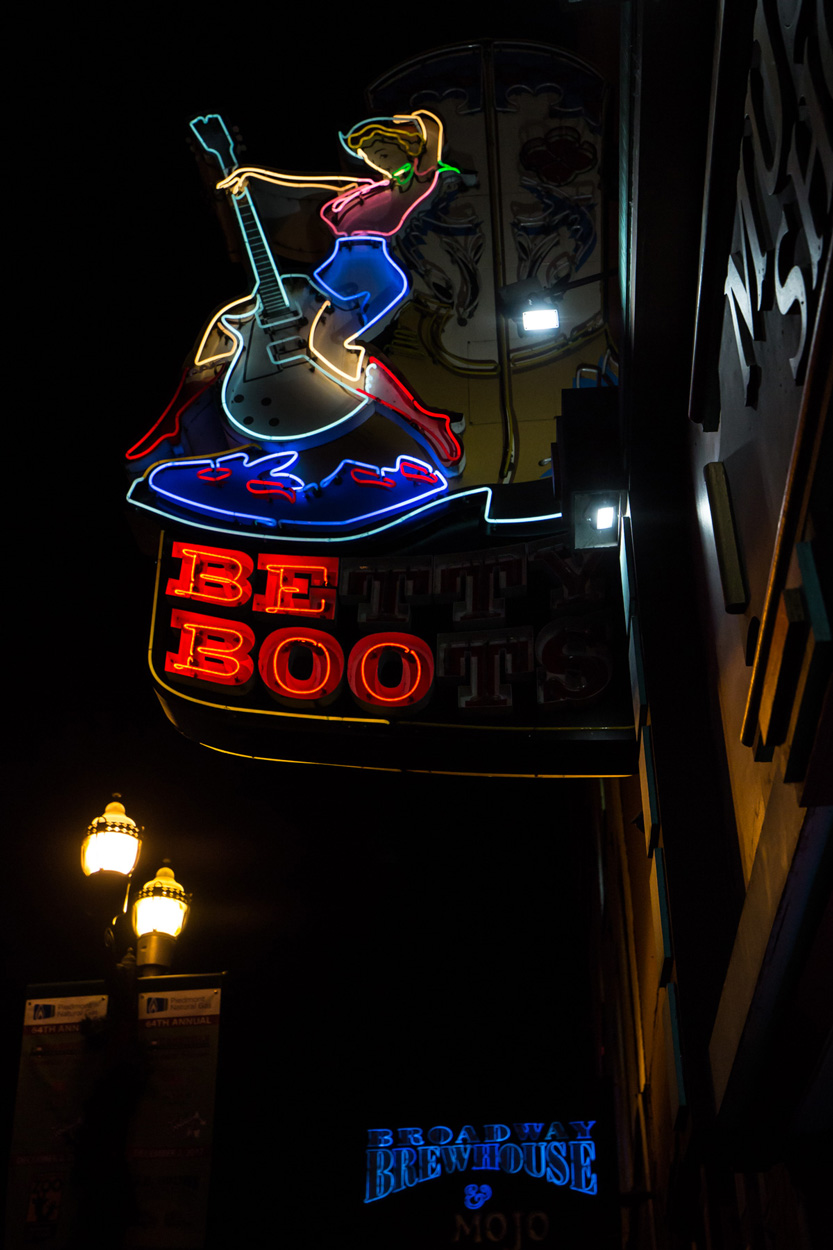 Betty Boots Neon Sign in Nashville