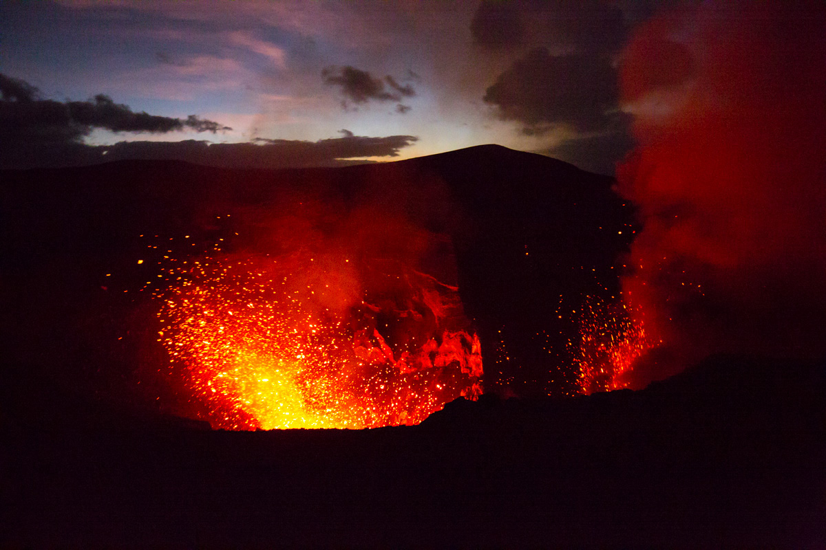 Volcanic activity on Mount Yasur - sucks you right in