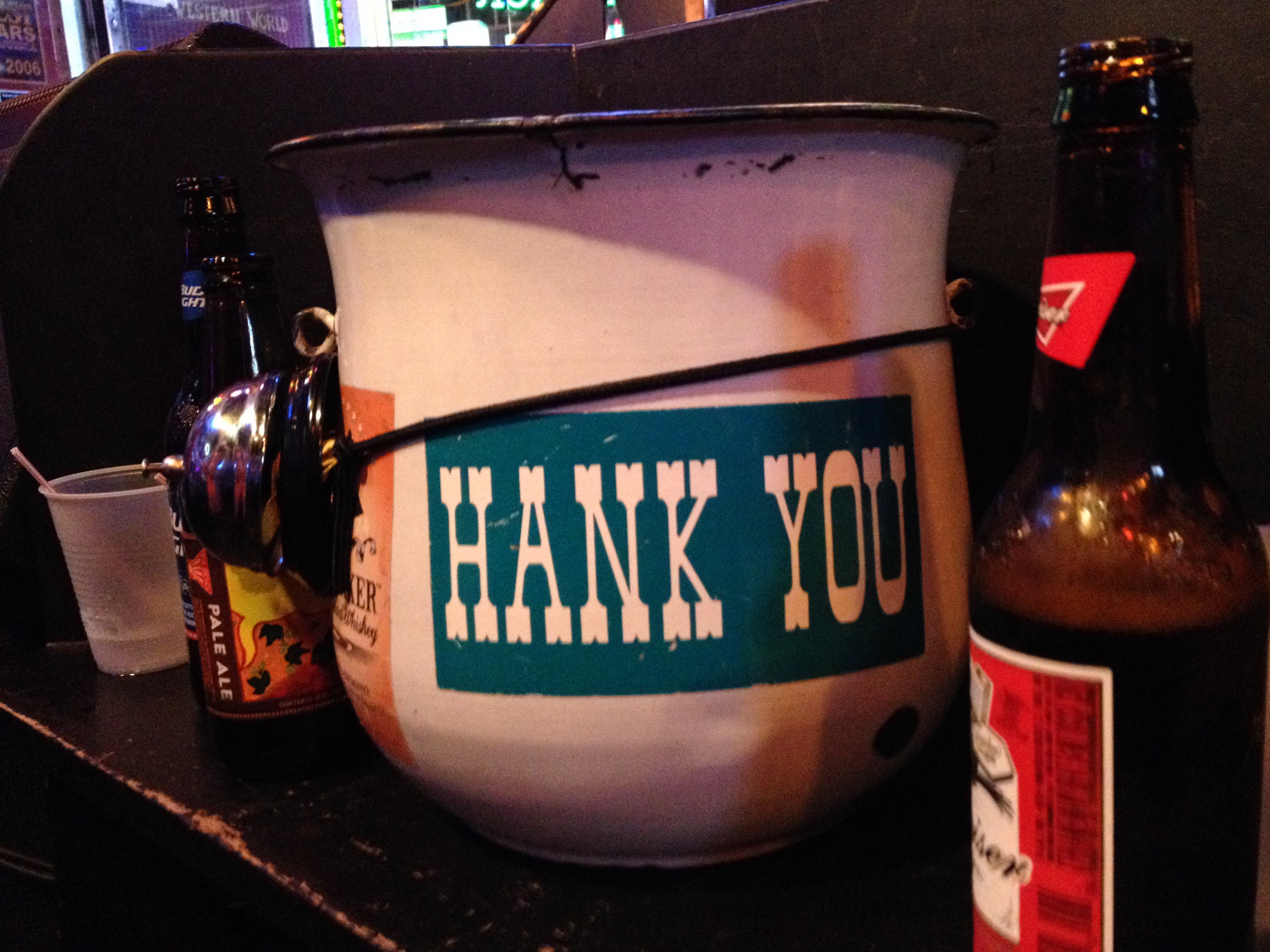 Tip jar at Robert's Western World in Nashville, TN