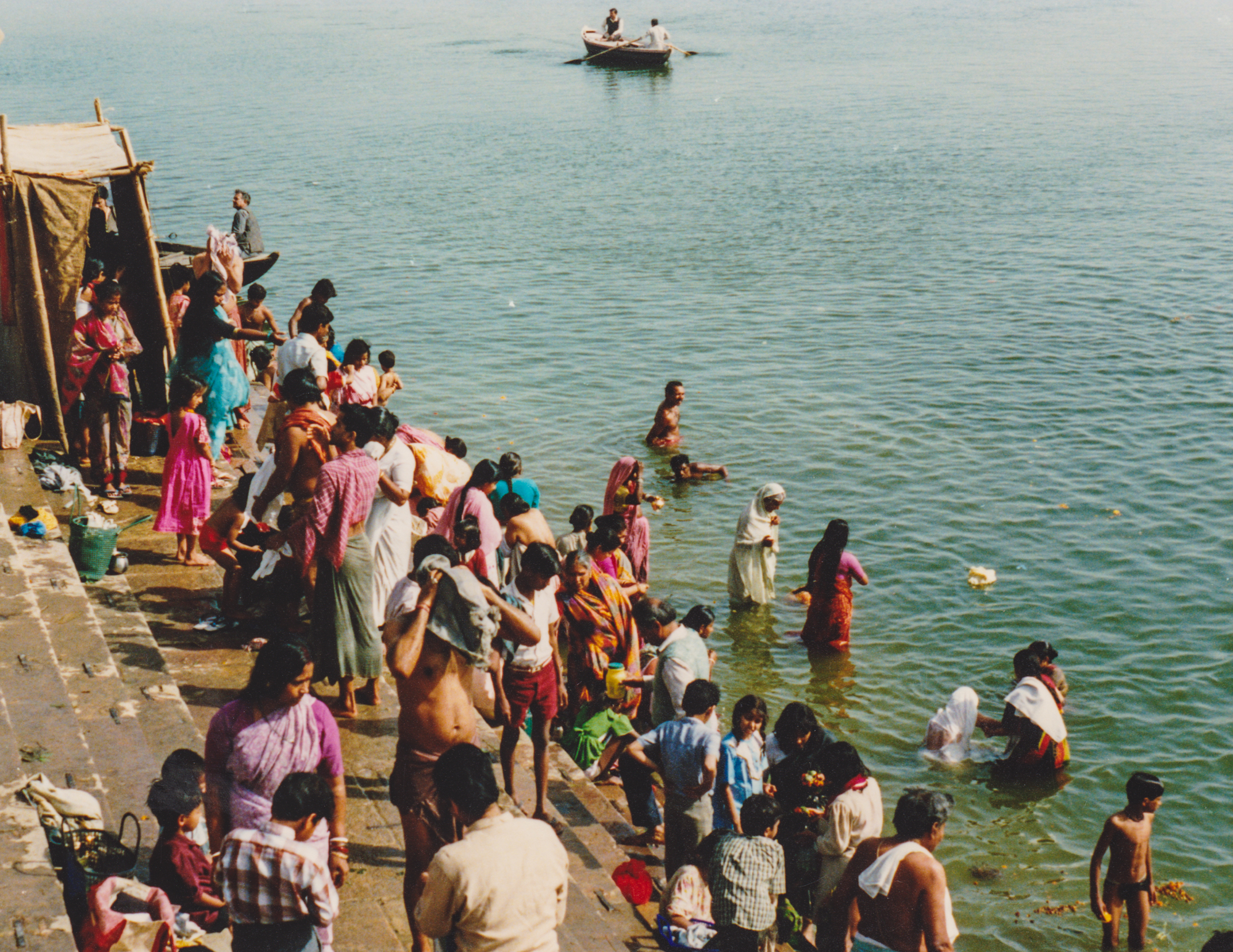 Bathing at Dashashwamedh Ghat