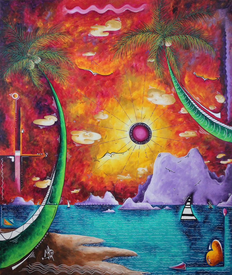 """MADART, MEGAN AROON DUNCANSON   A World Awaits - 2018   Acrylic On Canvas  60 X 72"""""""