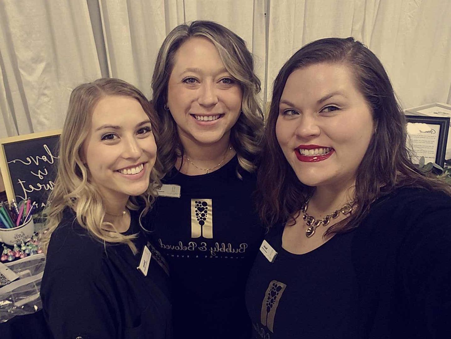 (From left to right) Lindsay: Assistant & Coordinator, Corrie: Owner & Lead Coordinator, Natasha: Assistant & Coordinator.