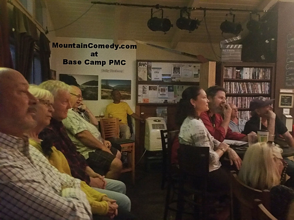 Base Camp - Pine Mountain ClubBASE CAMP CAFE Is Located at: 16311 ASKIN DR PINE MOUNTAIN CLUB, CA 93222 Every Last Friday. Head-linders and local comedians in open mic night.Started in 2012, Basecamp Cafe & Info Lounge is located in the beautiful town of Pine Mountain Club, CA and is the perfect Southern California destination for travelers seeking great scenery, relaxation, and a lot of fun.Enjoy a wide selection of delicious coffee, tea, smoothies, beer, wine and food spilling off the a la carte menu and traditional hospitality against a backdrop of mountains and trees.
