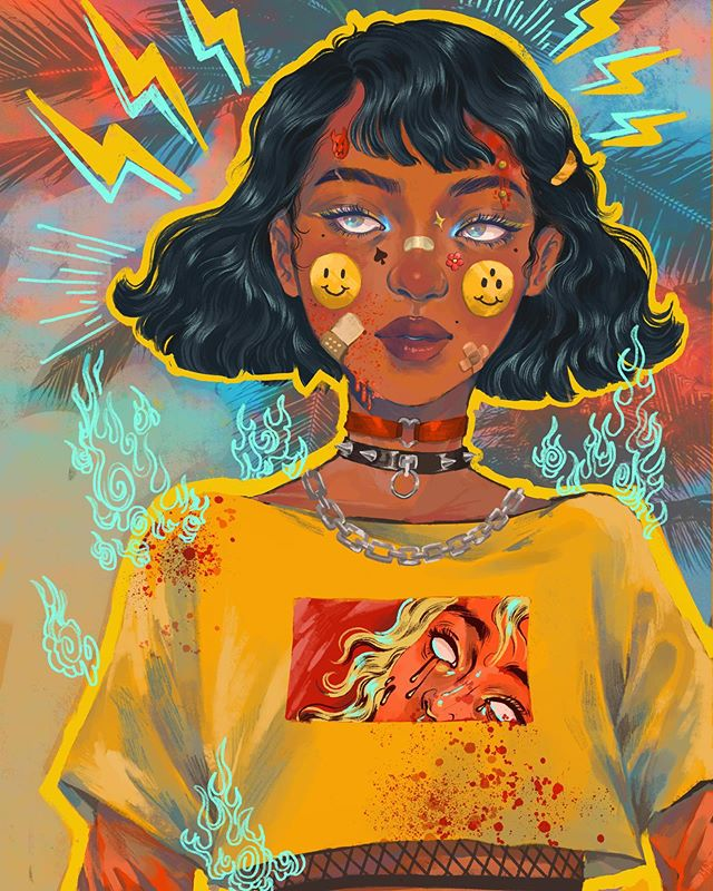 A #drawthisinyourstyle for @kurboi‼️I am in love with their art, linework, sense of design, and in particular their rendition of precolonial Filipino spirits. . . Wooow it's been a while hasn't it? I feel like I say this every couple of posts but I just want to say a quick thank u to any new/old followers that stick around despite my erratic posting schedulez 🥺🤠 honestly I've just been goin THRU it internally, and dealing with a lot of my own self doubt. I think social media tends to just amplify that on the not so great days so I've made an attempt to stay away for a little ☹️ I had so much fun rendering the small details on this particular character 💕 thanks again to @kurboi For hosting such a fun #dtiys Challenge‼️💖 . . Also woooow 🅱️ Instagram is so fake‼️I literally had the longest caption for this detailing my latest thoughts on riverdale and then it just deleted. How is this app going to have a complex algorithm that changes every 2 days predicting what I'm gonna have for dinner yet I can't post a narrow photo or comment too fast without getting blocked as a bot smfh. Thanks a lot zuckerberg if you're reading this and stealing my private information to sell to companies for advertisements or whatever, just know I hope you step on a lego 😤😤😤 . . . #drawthisinyourstyle #kurboi50k #procreate #digitalart #art