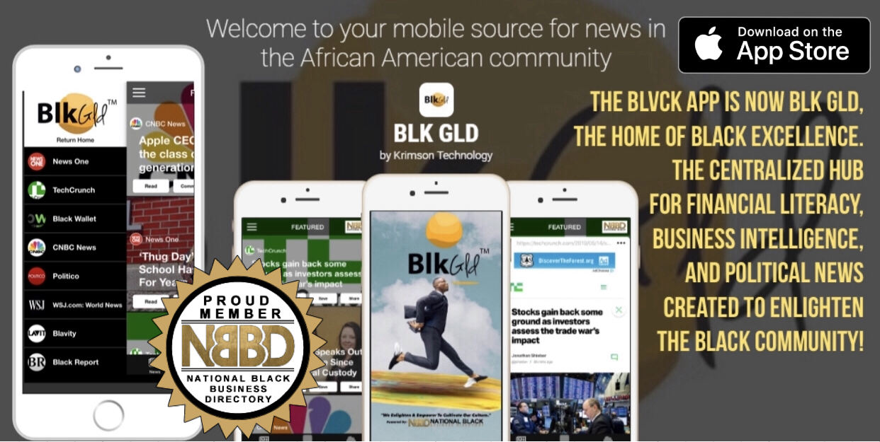 Screenshot of the BLVCK that was rebranded into the BLK GLD app