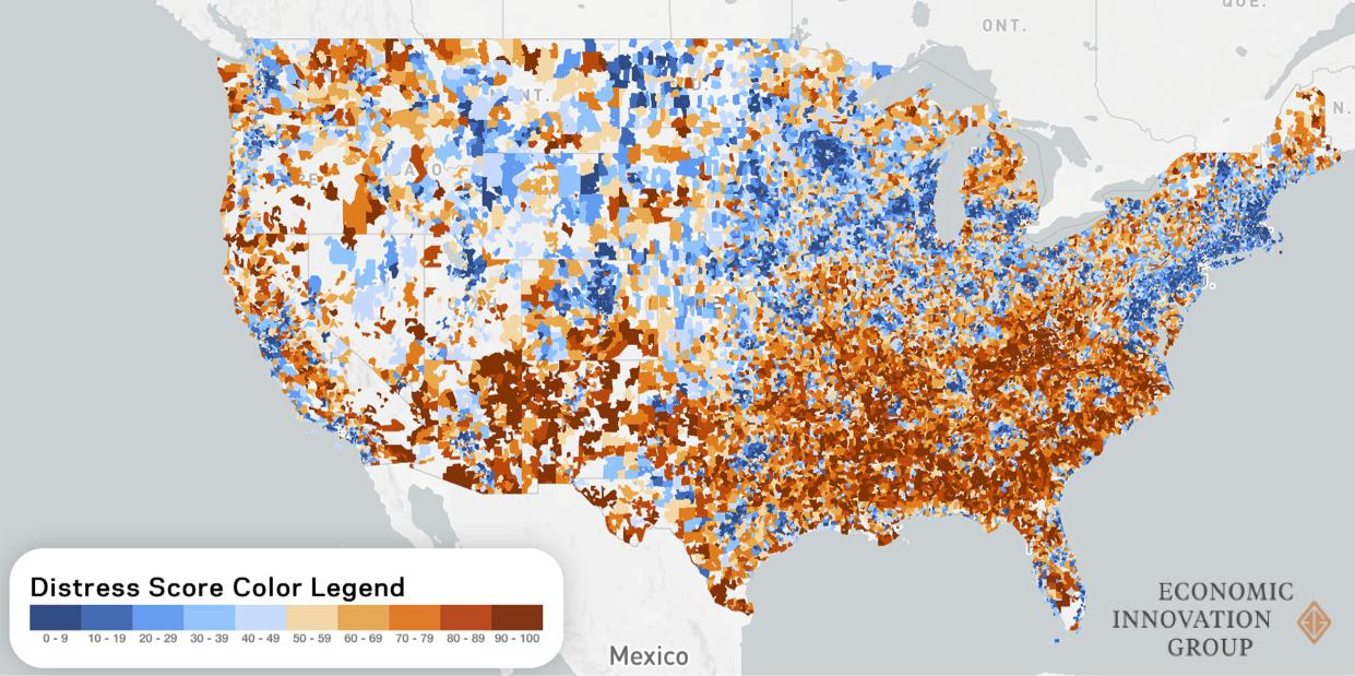 Map by the    Economic Innovation Group   . For an interactive version, click    here   .