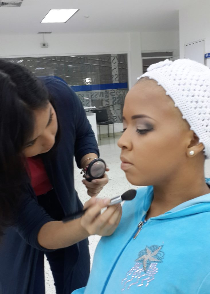Members of Beauty Value during a 'Beauty Injection' session where women suffering cancer receive makeup classes and motivational talks. (Photo Credits: Beauty Value)