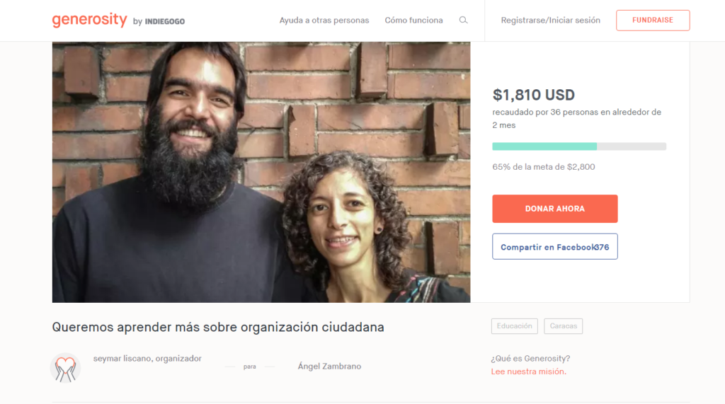 The Citizen Laboratory of Active Nonviolence has been raising funds to travel to Quito, Ecuador to attend a strategic non-violence program and citizen organization workshop.
