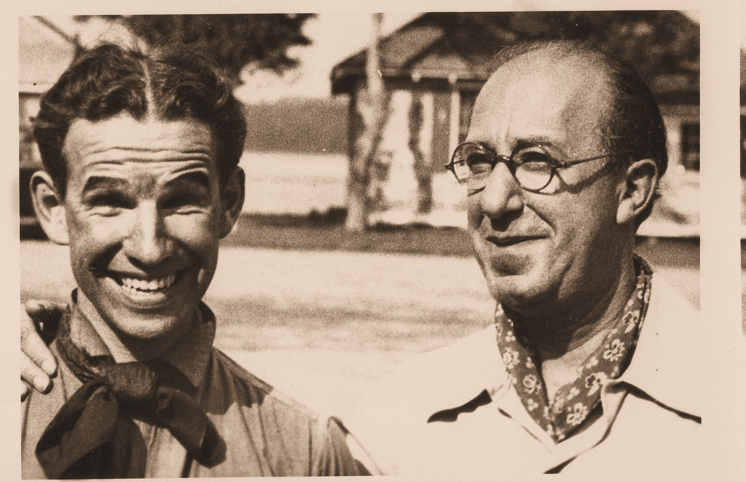 Left: Hume Cronyn Right: Ed Wynn At Lakewood Theater 1951