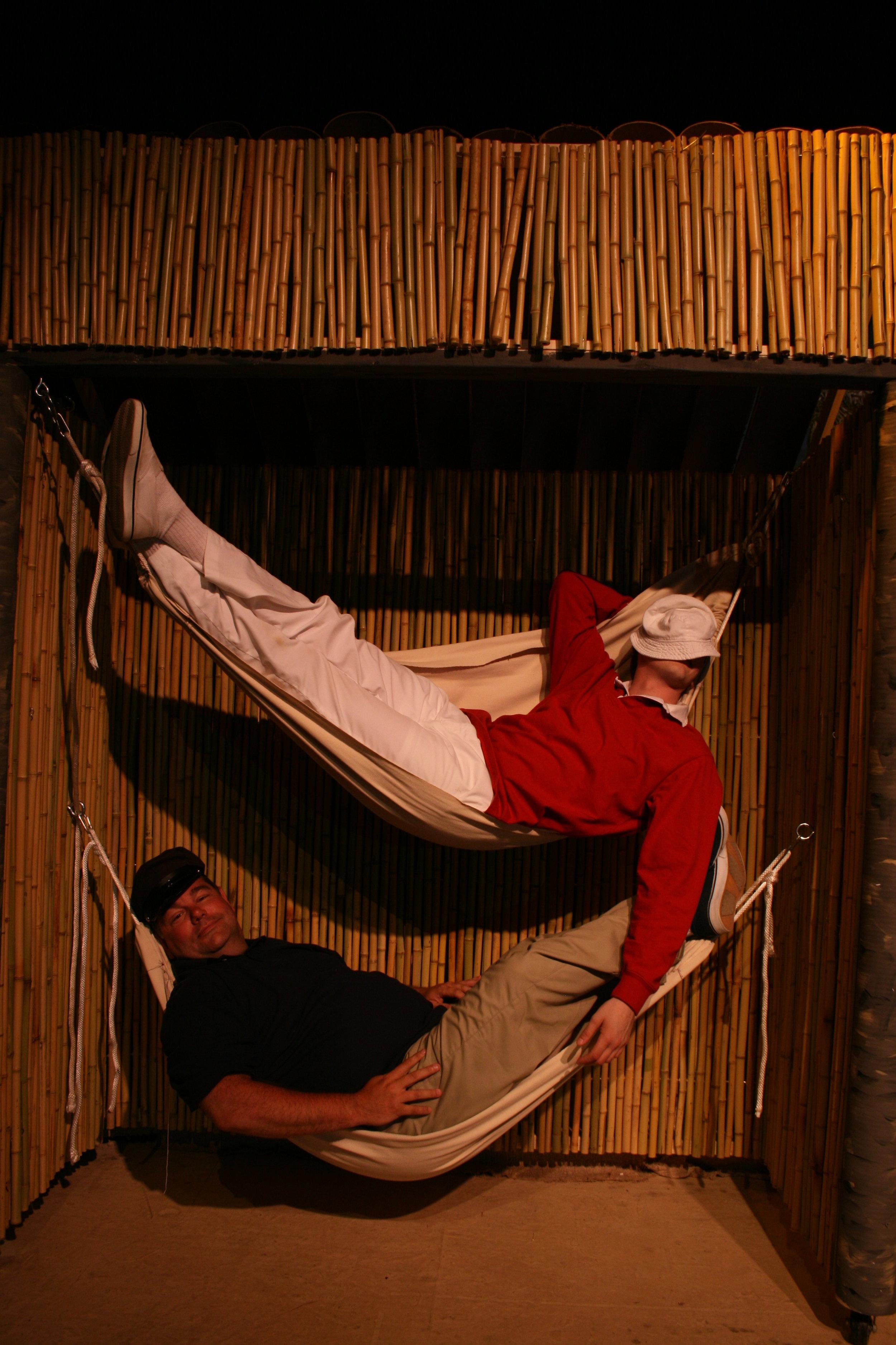 Production of Gilligan's Island 2008. Top: Luke Ellis as Gilligan, Bottom: Jeff Johnson as The Skipper