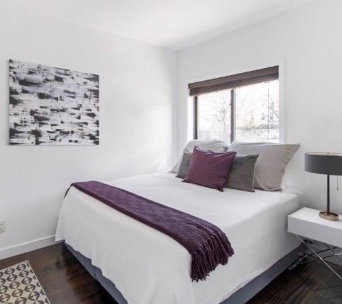 Staging of Greenpoint apartment by Compass. All artwork by Ilana Greenberg