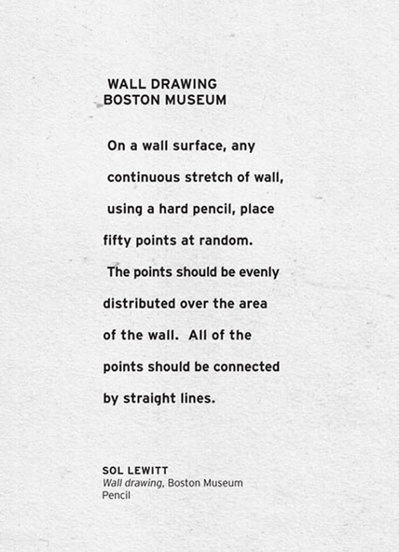 Sol Lewitt,  Wall Drawing  at the Boston Museum (date unknown)
