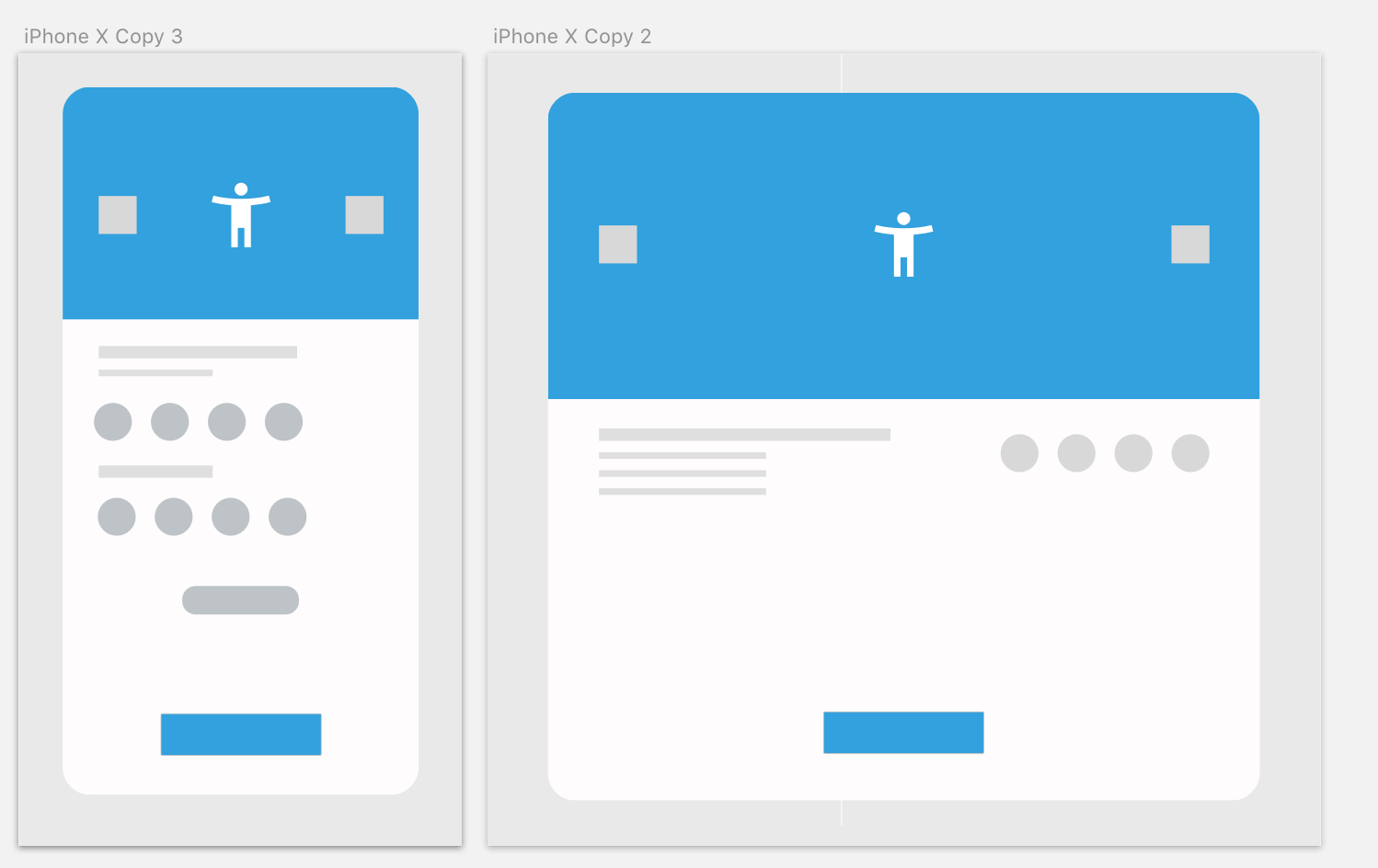 Progress shot, designing wireframe for shopping app (with continuity) Basing the wireframe design off of Googles - I like wire framing like this, it helps you really understand space between elements.