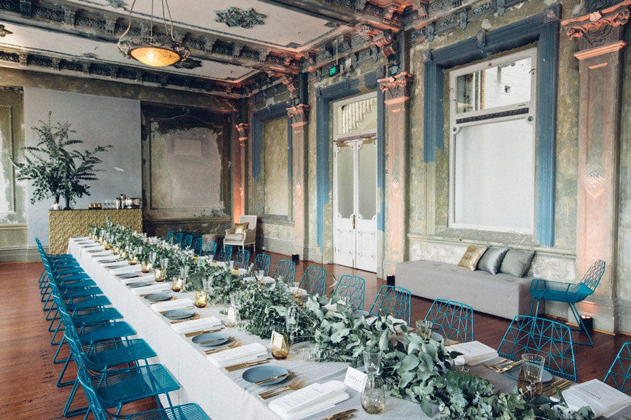 Refined dining at melbourne events venue the George Ballroom.