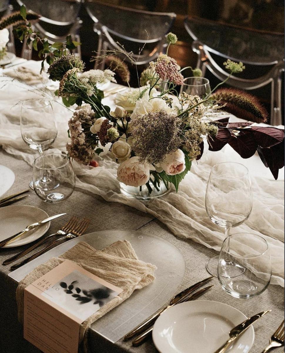 Dining setting at the George Ballroom, St Kilda