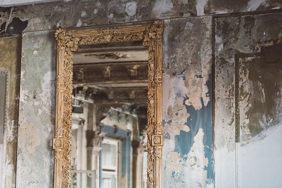 Mirror in the George Ballroom.