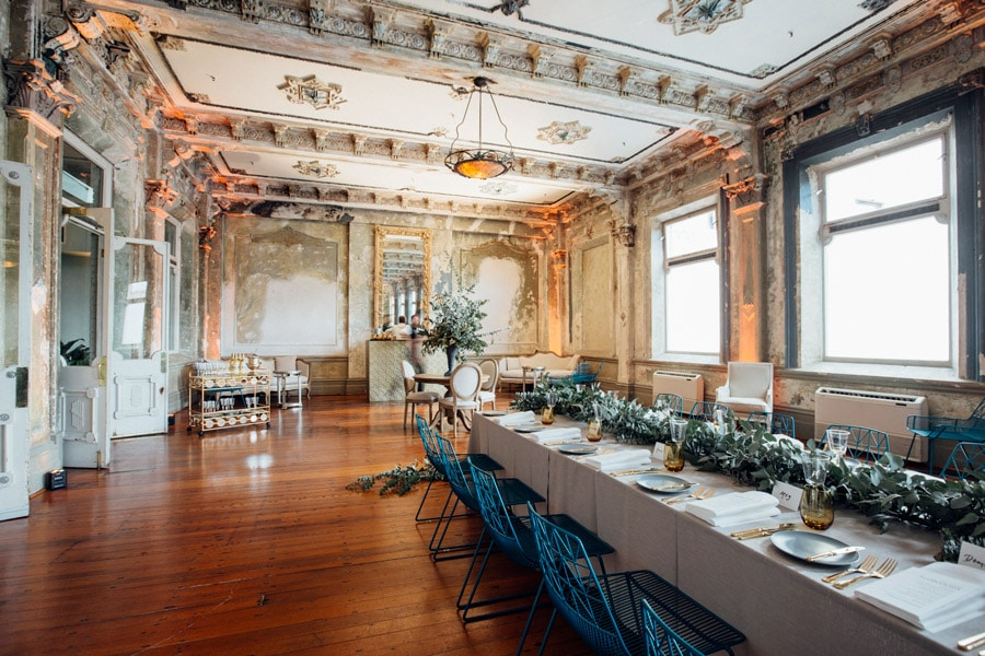 Dining setting at the George Ballroom.