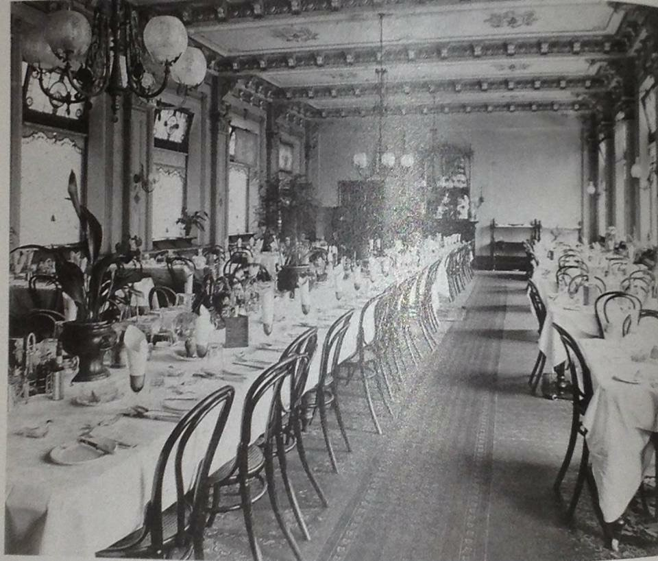The Dining Room at the George Hotel, St Kilda.