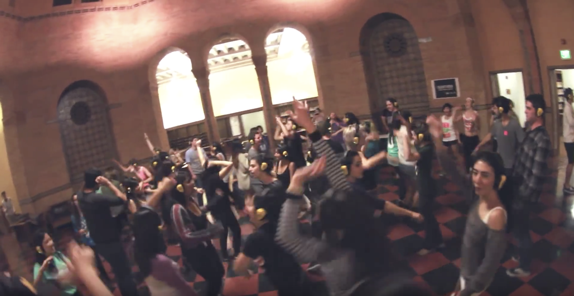 Silent Disco at UCLA's Powell Library. Credit:  UCLA Library