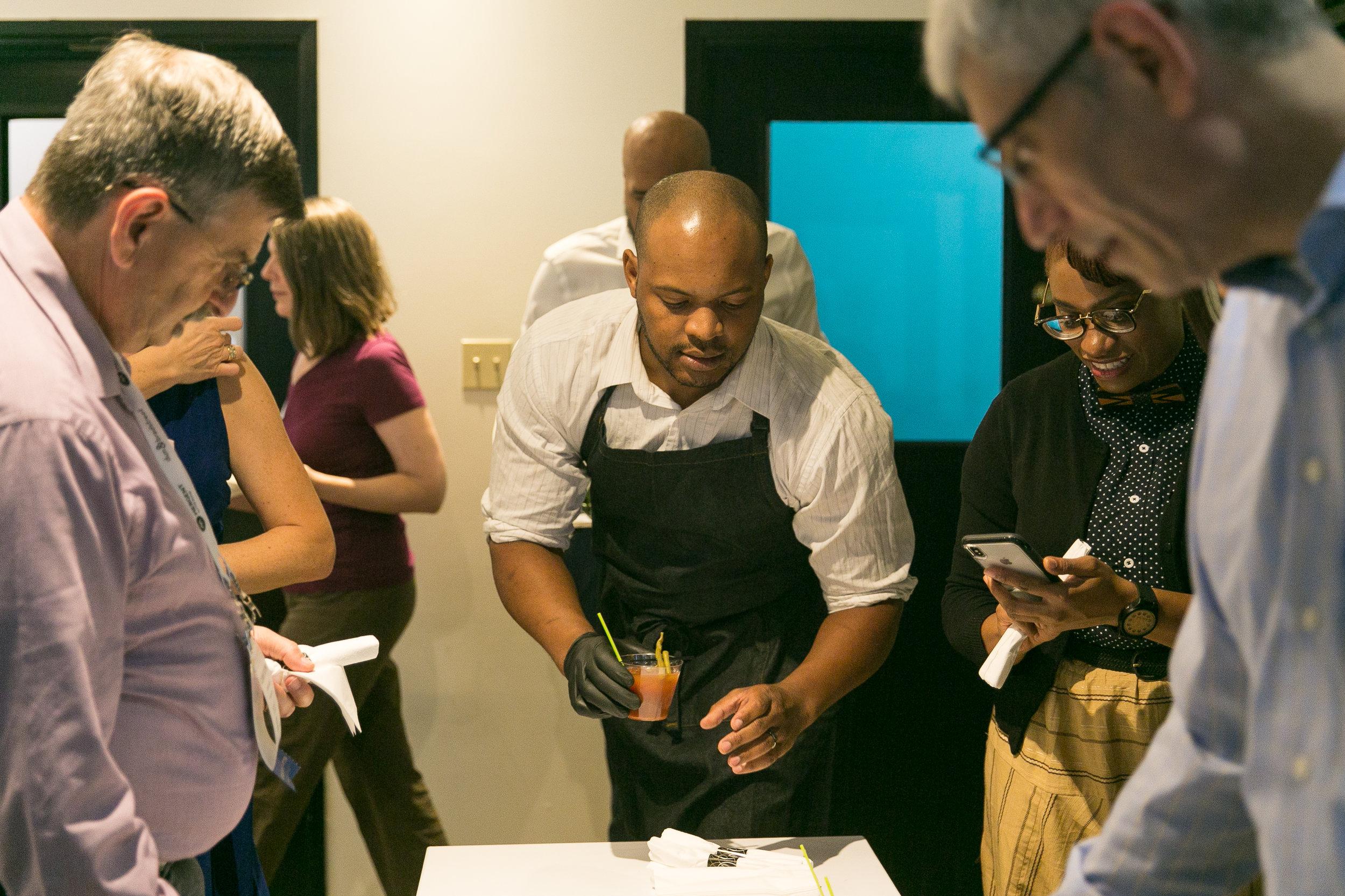 Chef Aaron Washington of Local Menu NOLA. Photo by  Harlin Miller .