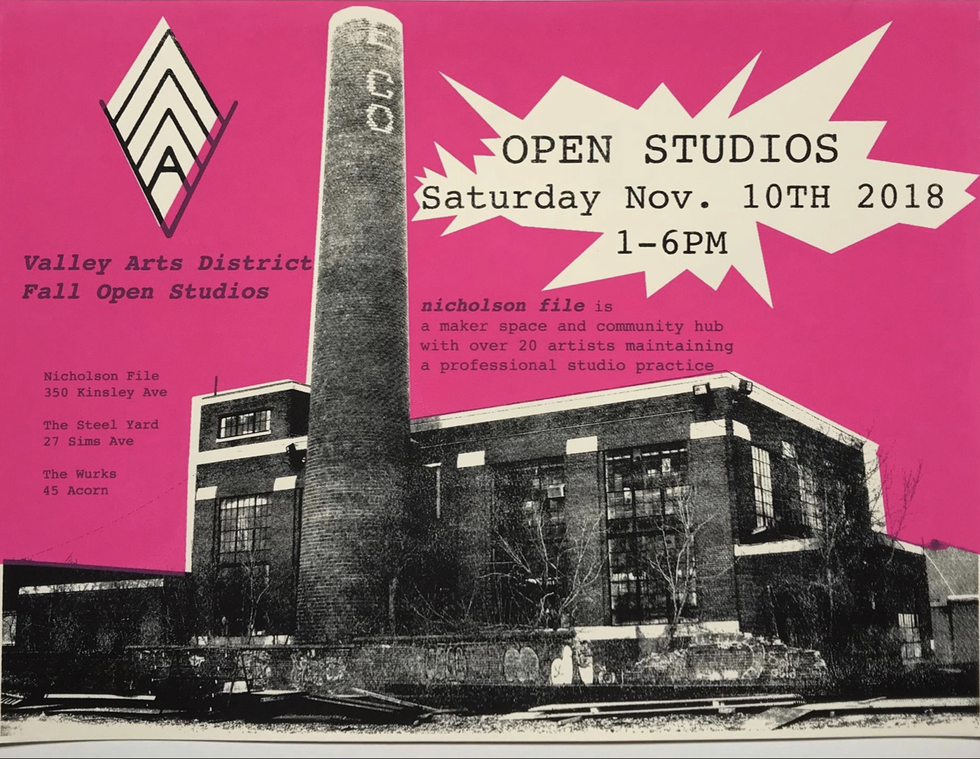 Meet me at the Steel Yard during VAD open studios!  In the Ceramics Studio, dress warm!