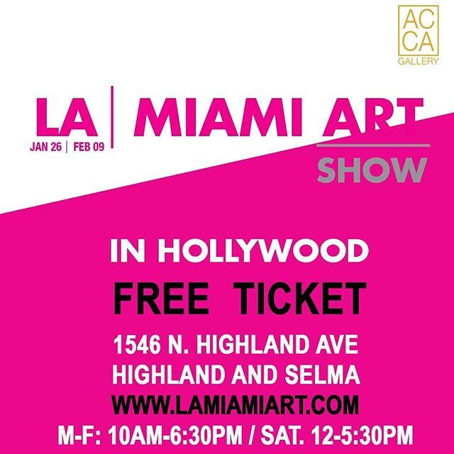 Received complimentary collectible tickets admission to AC Gallery from 10 to 6:30 pm. All week  On view LA / Miami Art Show!  EXHIBITORS  LINZI LYNN | THE BLENDED PERSON | EBRU CAPARTI | AMANDA HARD | KATY PARKS WILSON | NATALIA BERIVAN | RICHARD POPITTI | GEORGE HOBBS | ANGEL MENDOZA | BORIS BEZROUKOV | JOEY JAMES SALEHI | STEVEN WRIGHT | TUCKER WULF | FABIENNE DOUGÉ | ELLEN STERN | BRIAN KUTZA | TERRY PORTER | CANDACE WIGHT | RACHEL GANZ | KAREN BYSTEDT | PATRICK CURTET | MIKEY | BILL DOBBINS | MR. MK ULTRA | JEAN-MICHEL BASQUIAT | RICARDO AGUILAR  Black lights Murals activated by @braydenart @mrmk_ultra @andrewsoria_art  Gallery Network Partners @artnet @artsy  Official payment service partner @square  @thehollywoodroosevelt @dreamhotelsla @loewshollywood  @japanhousela @hollywoodchamberofcommerce @jimmykimmellive #hollywood  @Artistscornergallery @DianeRosenstein @Gavlakgallery @JeffreyDeitchgallery @KohnGallery @RegenProjects @Steveturnerla @Tanyabonakdargallery  #hollywoodwalkoffame #egyptiantheatrehollywood @innout  @melsdrivein @innoutpeople  @dolbytheatre @chinesetheatres @hardrockcafe @magiccastleofficial  @yamashirola @taola @warwick_la