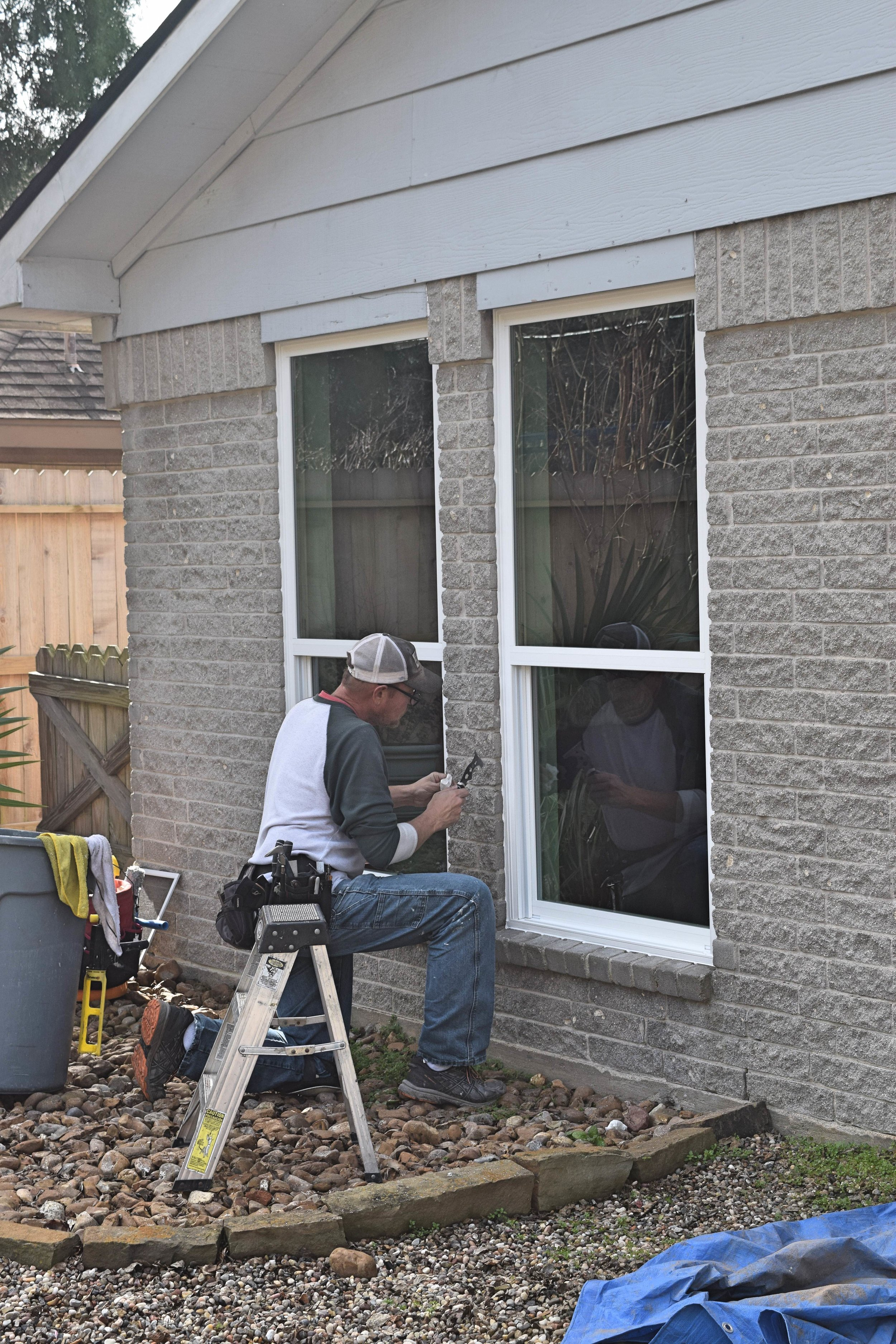 Installing New Vinyl Framed Windows