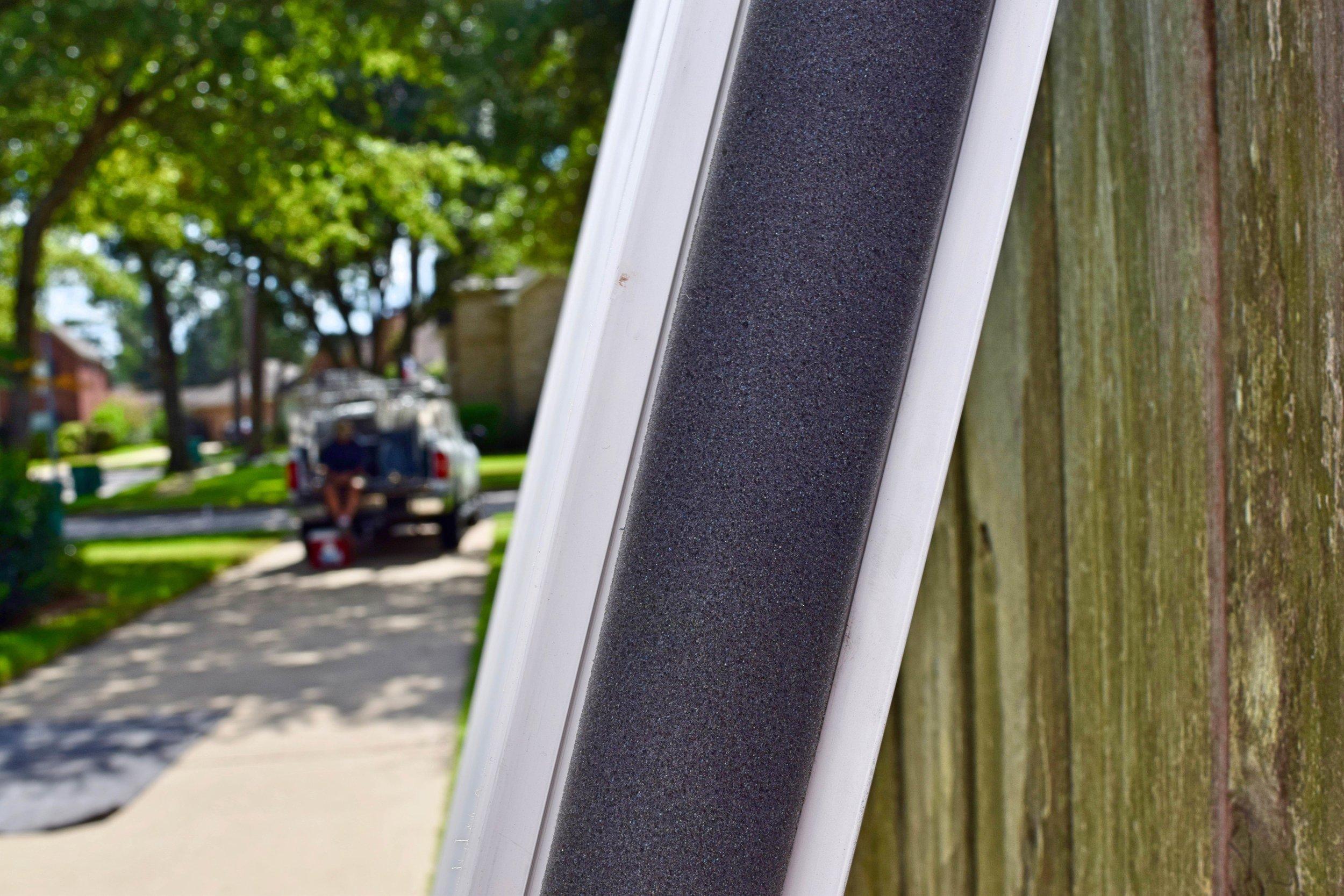 Foam wrapped vinyl frames
