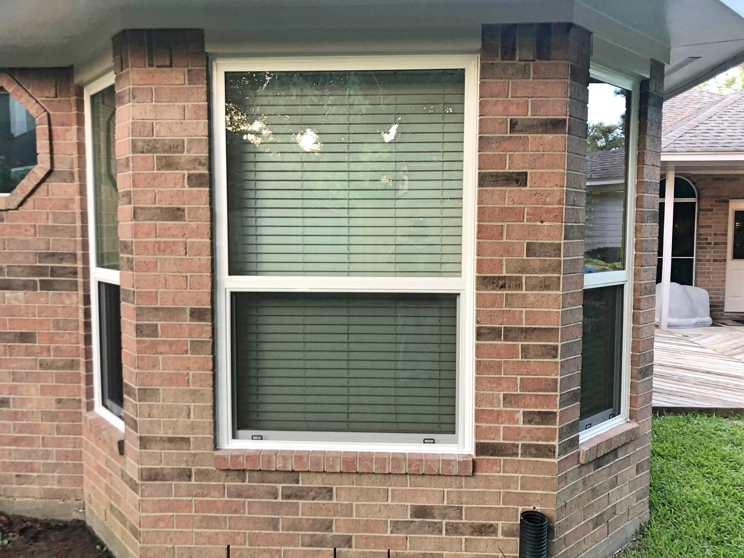 Custom Windows - This homeowner chose windows that are operating, so they open up to let a breeze in. They energy-efficient, sturdy, and built to last in Houston heat!