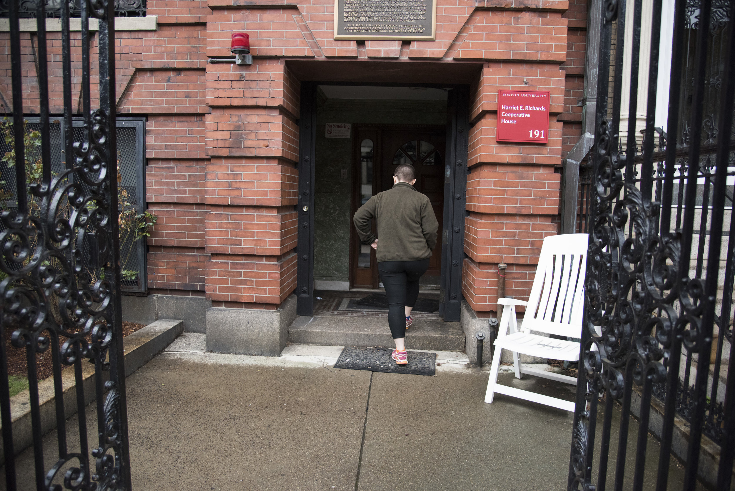 Ruby Rosenberg, a junior at Boston University, comes home to the Harriet E. Richards-- or HER-- house, the cooperative women's dormitory on BU's campus. The dorm, which has significantly reduced rent, was created in 1928 in part as a home for women who could not otherwise afford a university education.