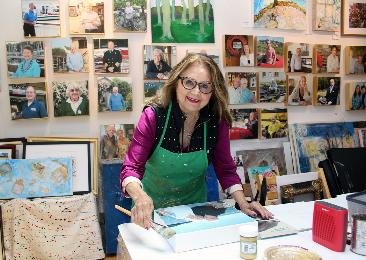 Jaleh in her studio — photo credit Diane Smith, The Ark Newspaper