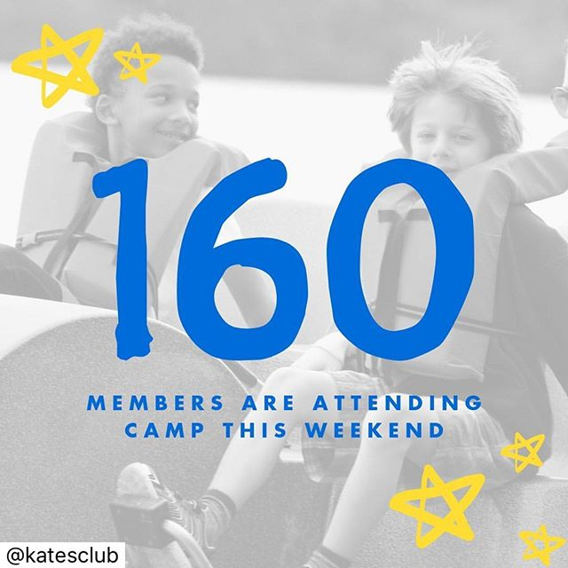It's a record number of campers for our second session of summer 2019 - 160 of Kate's Club members are enjoying all of the traditional camp activities as well as therapeutic grief exercises!   #facegrieftogether #campgoodmourning #instagramtakeover @katesclub