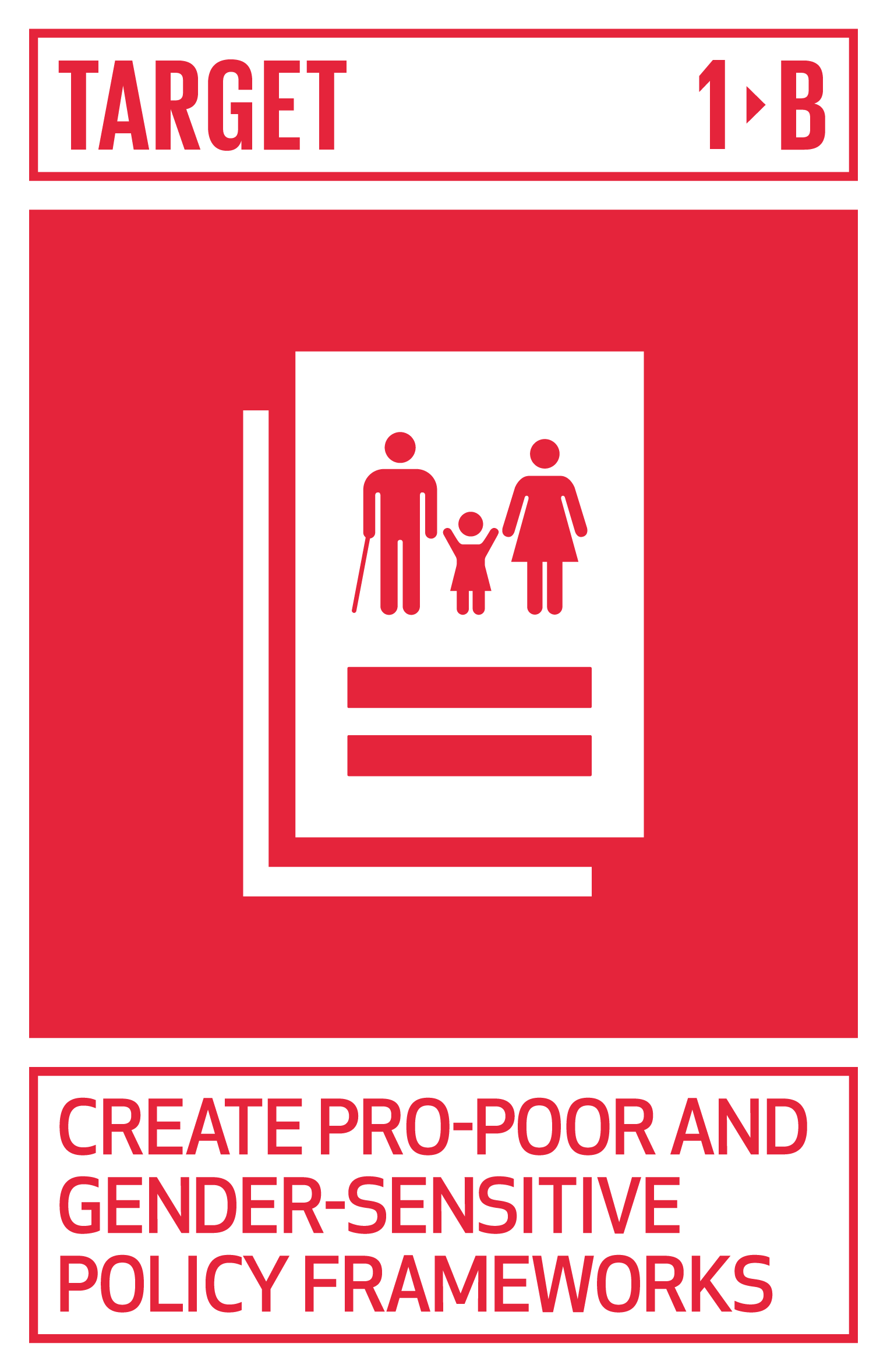 Create sound policy frameworks at the national, regional and international levels, based on pro-poor and gender-sensitive development strategies, to support accelerated investment in poverty eradication actions.   INDICATOR    1.b.1  Proportion of government recurrent and capital spending to sectors that disproportionately benefit women, the poor and vulnerable groups
