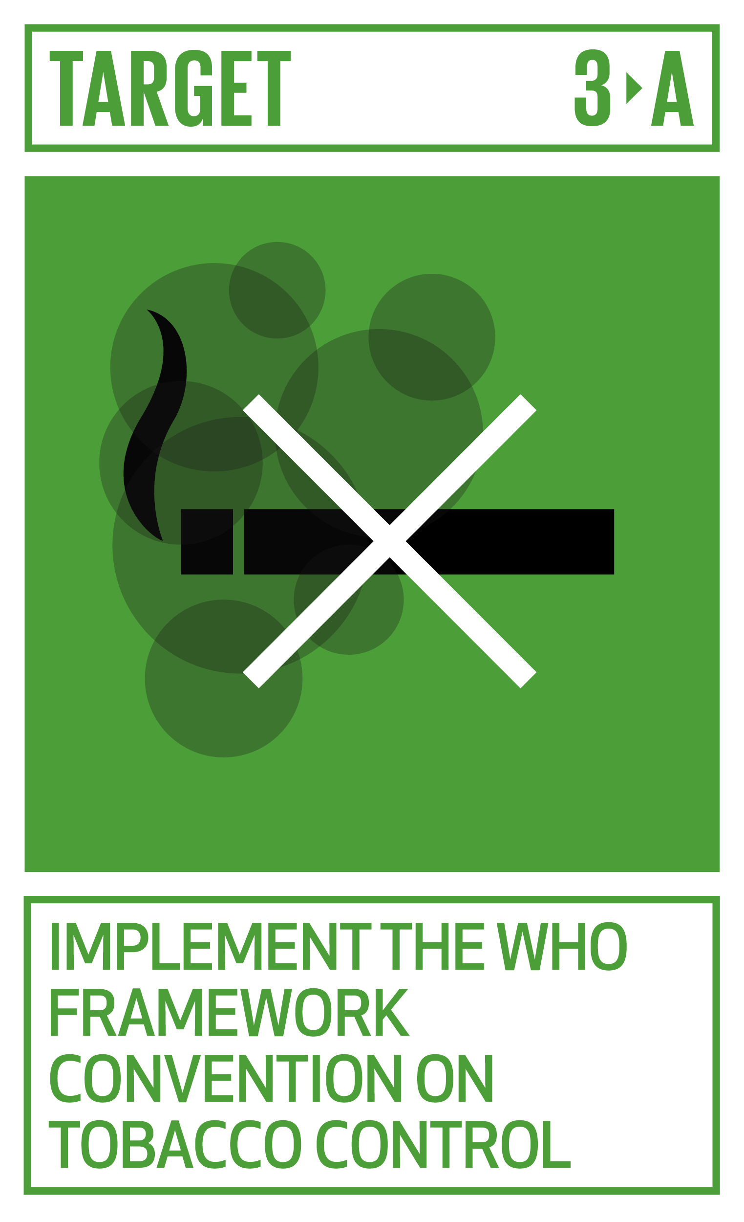 Strengthen the implementation of the World Health Organization Framework Convention on Tobacco Control in all countries, as appropriate.   INDICATOR    3.a.1  Age-standardized prevalence of current tobacco use among persons aged 15 years and older