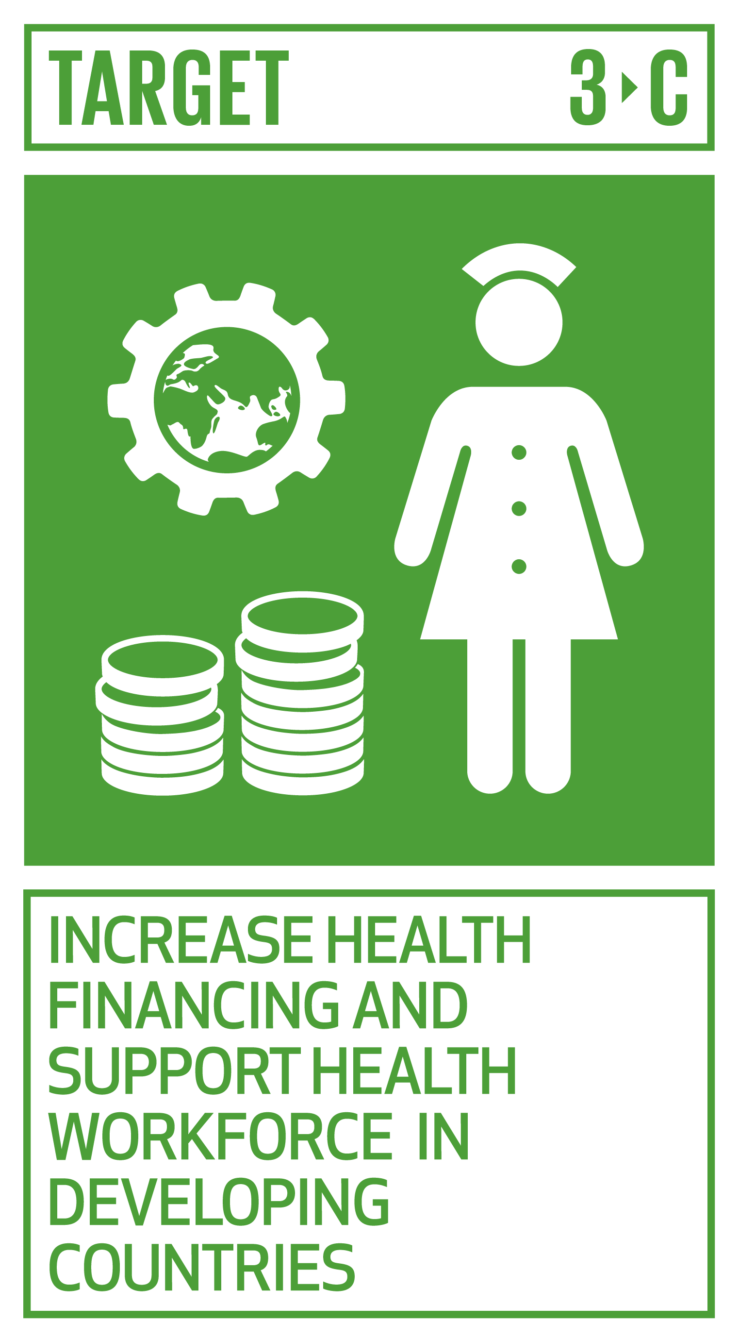 Substantially increase health financing and the recruitment, development, training and retention of the health workforce in developing countries, especially in least developed countries and small island developing States.   INDICATOR    3.c.1  Health worker density and distribution