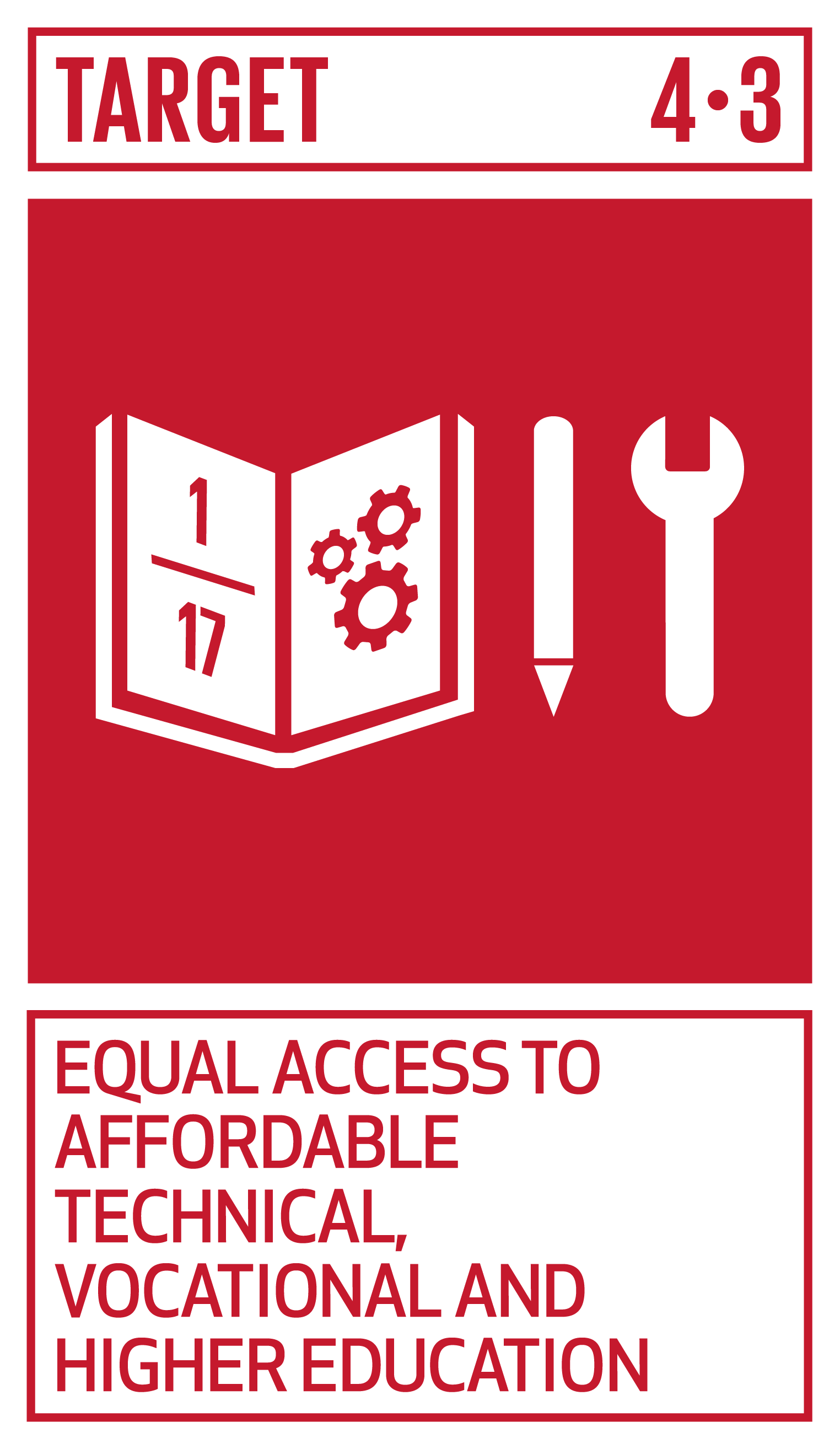 By 2030, ensure equal access for all women and men to affordable and quality technical, vocational and tertiary education, including university.   INDICATOR    4.3.1  Participation rate of youth and adults in formal and non-formal education and training in the previous 12 months, by sex