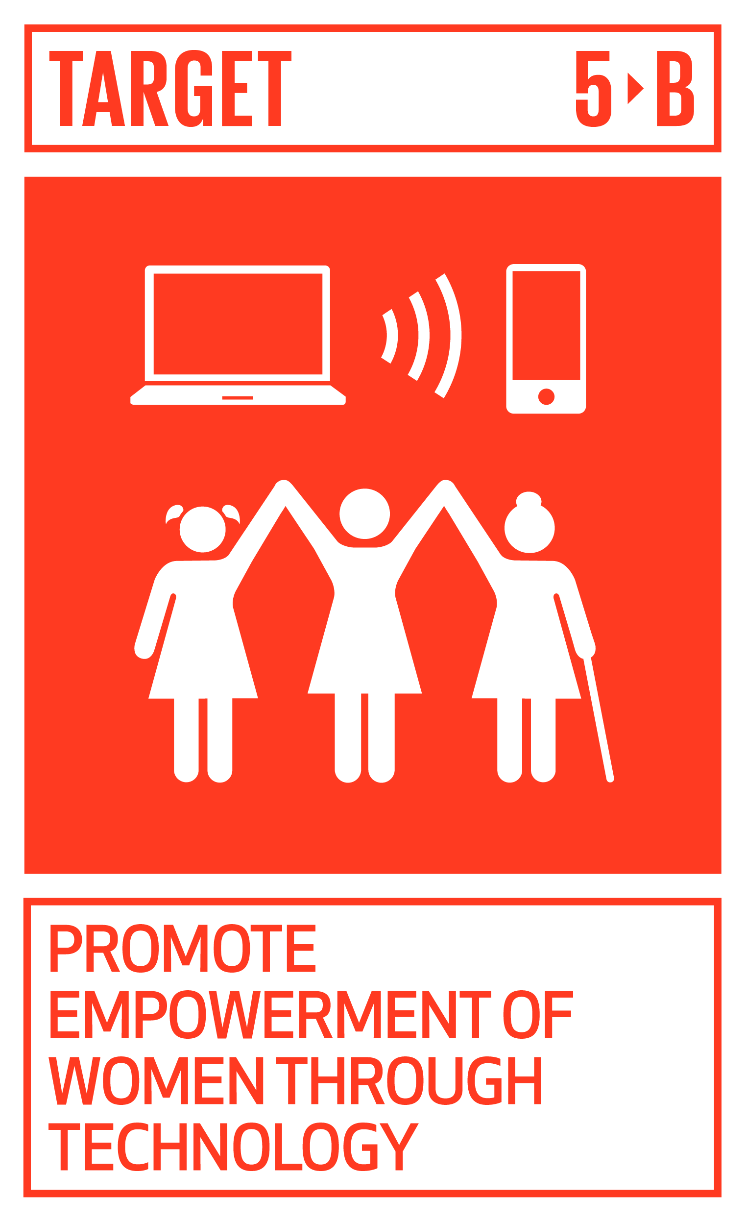 Enhance the use of enabling technology, in particular information and communications technology, to promote the empowerment of women.   INDICATOR    5.b.1  Proportion of individuals who own a mobile telephone, by sex
