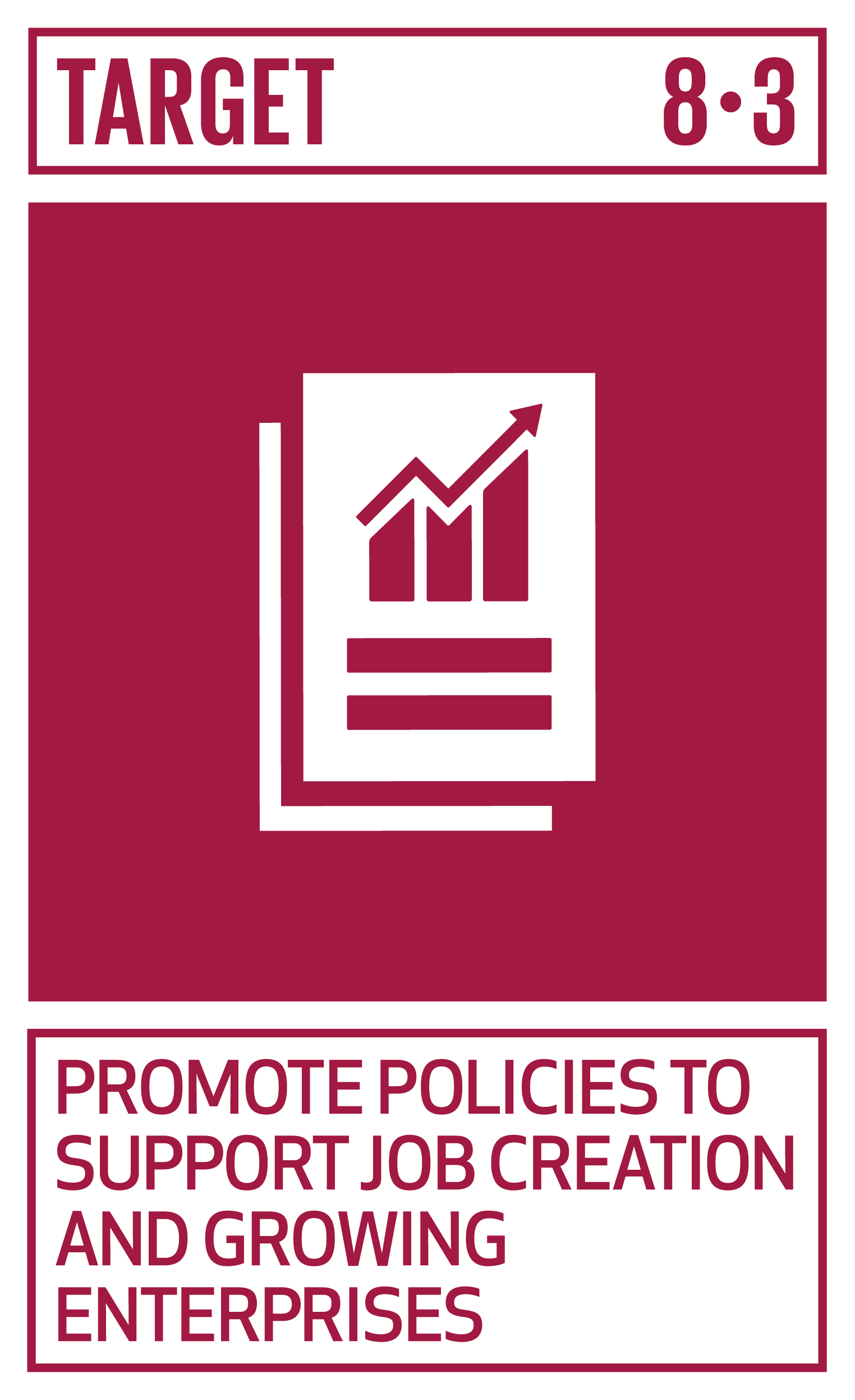 Promote development-oriented policies that support productive activities, decent job creation, entrepreneurship, creativity and innovation, and encourage the formalization and growth of micro-, small- and medium-sized enterprises, including through access to financial services.   INDICATOR    8.3.1  Proportion of informal employment in non‑agriculture employment, by sex