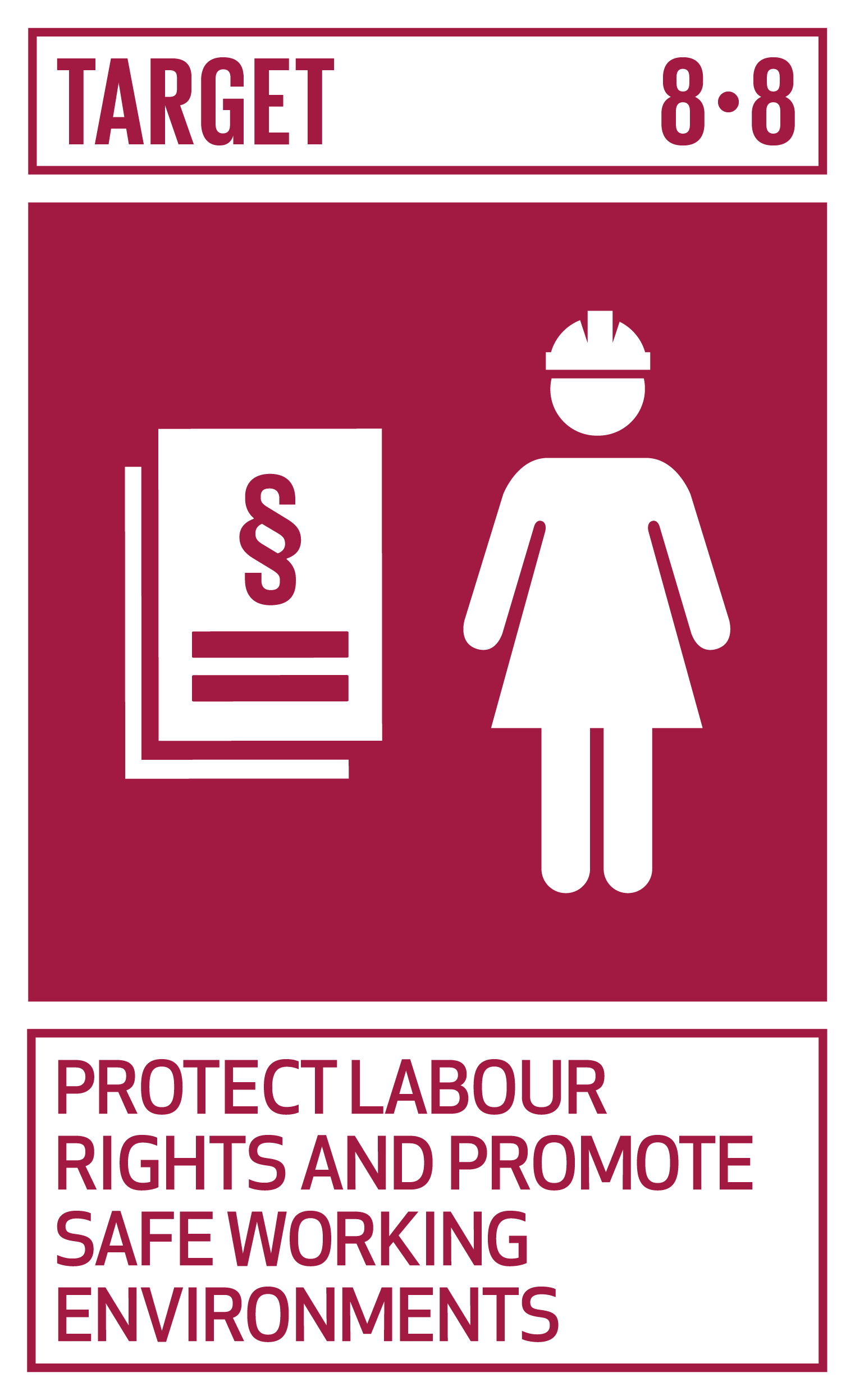Protect labour rights and promote safe and secure working environments for all workers, including migrant workers, in particular women migrants, and those in precarious employment.   INDICATORS    8.8.1  Frequency rates of fatal and non-fatal occupational injuries, by sex and migrant status   8.8.2  Level of national compliance with labour rights (freedom of association and collective bargaining) based on International Labour Organization (ILO) textual sources and national legislation, by sex and migrant status