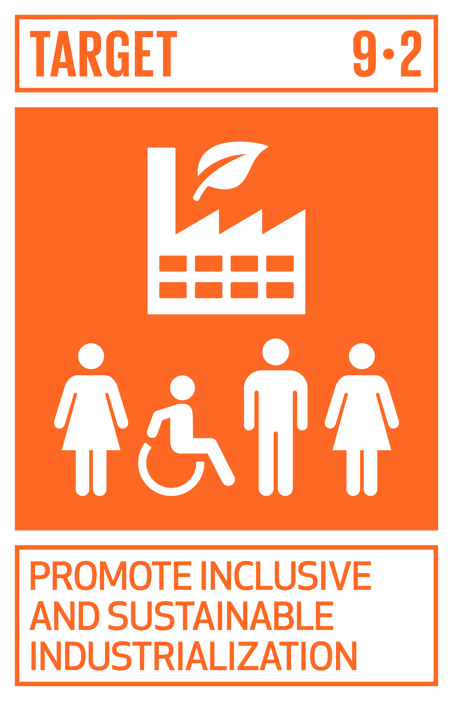 Promote inclusive and sustainable industrialization and, by 2030, significantly raise industry's share of employment and gross domestic product, in line with national circumstances, and double its share in least developed countries.   INDICATORS    9.2.1  Manufacturing value added as a proportion of GDP and per capita   9.2.2  Manufacturing employment as a proportion of total employment